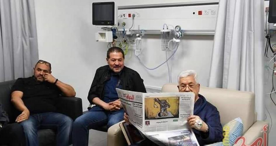 אבו מאזן עם בניו בבית החולים, מאי 2018